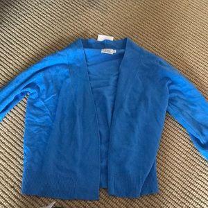 Blue open cardigan size S